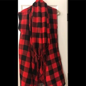 Red & black plaid vest